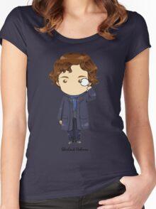 Sherlock Holmes Chibi Women's Fitted Scoop T-Shirt
