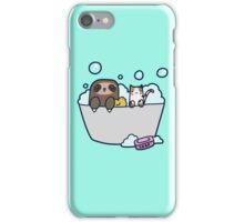 Sloth Kitty Bath iPhone Case/Skin
