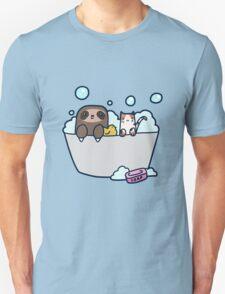 Sloth Kitty Bath Unisex T-Shirt