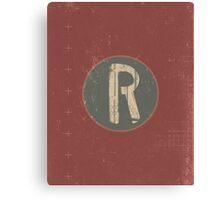 Retro Letter R Canvas Print