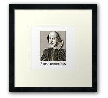 Shakespeare Hos Framed Print
