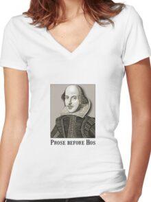 Shakespeare Hos Women's Fitted V-Neck T-Shirt