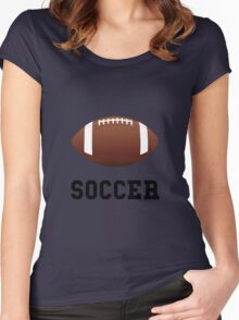 Soccer Football Women's Fitted Scoop T-Shirt