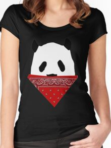 Pandanna- Panda with a Bandanna Women's Fitted Scoop T-Shirt