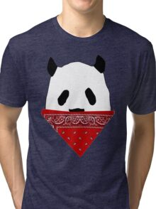 Pandanna- Panda with a Bandanna Tri-blend T-Shirt