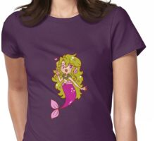Green Haired Mermaid Womens Fitted T-Shirt