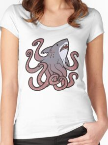 Cute Sharktopus Women's Fitted Scoop T-Shirt