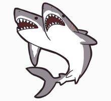 2-Headed Shark One Piece - Short Sleeve