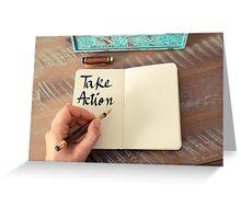 Take Action Greeting Card