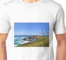 Yaquina Head Lighthouse in bloom Unisex T-Shirt