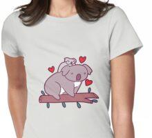 Kawaii Mama and Baby Koala Womens Fitted T-Shirt