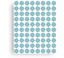 Pattern in Blue and White Canvas Print