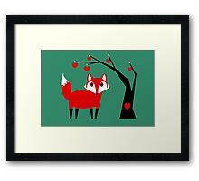 TREE AND FOX Framed Print