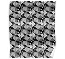 Bold Geometric in Black and White Poster