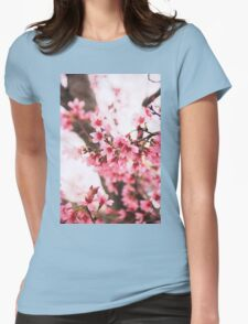Pink Blossoms Womens Fitted T-Shirt