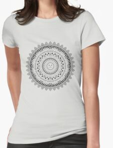 Kitty Cat Mandala Womens Fitted T-Shirt