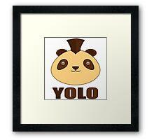 Yolo panda Framed Print