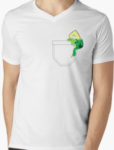 Pocket Peridot Mens V-Neck T-Shirt