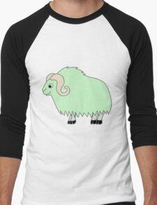 Light Green Buffalo with Horns Men's Baseball ¾ T-Shirt