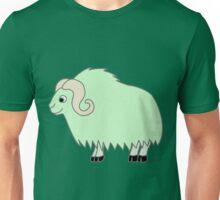 Light Green Buffalo with Horns Unisex T-Shirt
