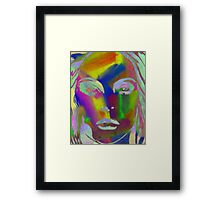 Peer Out Of Colour Framed Print