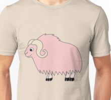 Light Pink Buffalo with Horns Unisex T-Shirt