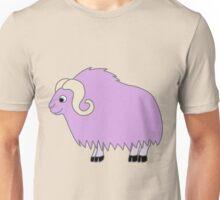 Light Purple Buffalo with Horns Unisex T-Shirt