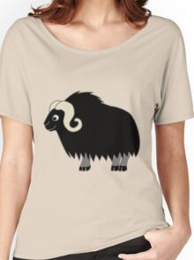 Black Buffalo with Horns Women's Relaxed Fit T-Shirt