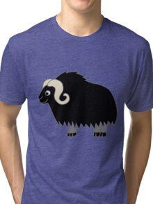 Black Buffalo with Horns Tri-blend T-Shirt