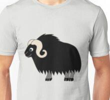 Black Buffalo with Horns Unisex T-Shirt