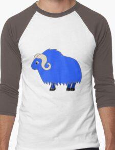 Blue Buffalo with Horns Men's Baseball ¾ T-Shirt