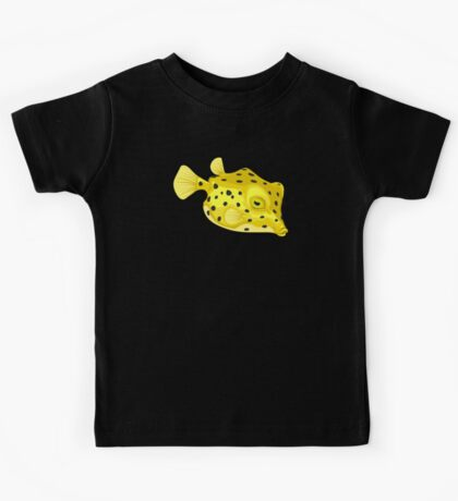 Fish: Yellow Boxfish Kids Tee