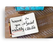 Increase Your Visibility On Social Media Canvas Print