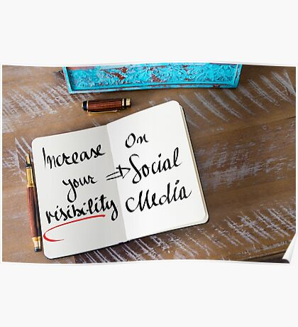 Increase Your Visibility On Social Media Poster