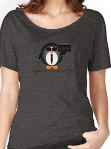 Happy Beats Penguin Women's Relaxed Fit T-Shirt