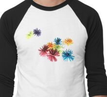 Spongey Color Fun  Men's Baseball ¾ T-Shirt