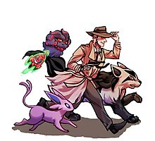 Fallout 4 X Pokémon - Nick Valentine (Limited Edition - ONE DAY LEFT) Photographic Print