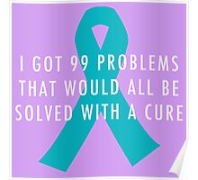 99 Problems Cure - Turquoise Poster