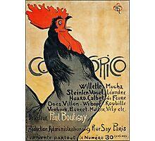 Cocorico Poster ca 1899 (PD) Photographic Print