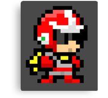 Proto man pixel art  Canvas Print