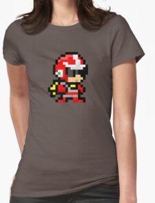 Proto man pixel art  Womens Fitted T-Shirt