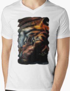 Tiger Stare Mens V-Neck T-Shirt