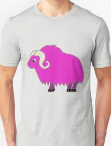Hot Pink Buffalo with Horns Unisex T-Shirt