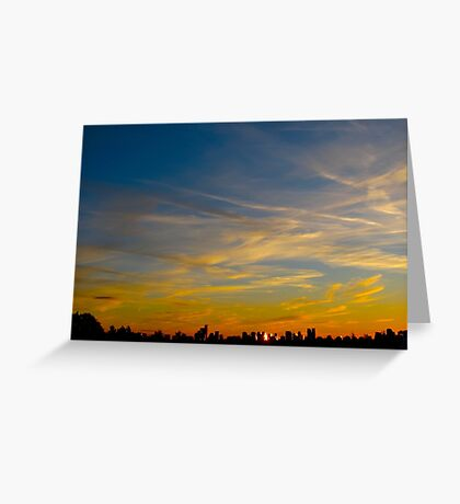 Patchwork clouds Greeting Card