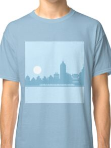 City Skyline with Robot Classic T-Shirt