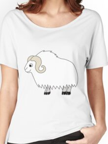 White Buffalo with Horns Women's Relaxed Fit T-Shirt