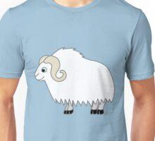 White Buffalo with Horns Unisex T-Shirt