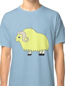 Yellow Buffalo with Horns Classic T-Shirt
