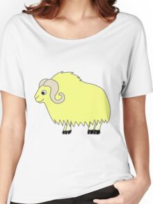 Yellow Buffalo with Horns Women's Relaxed Fit T-Shirt