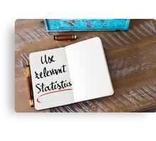 Use Relevant Statistics Canvas Print